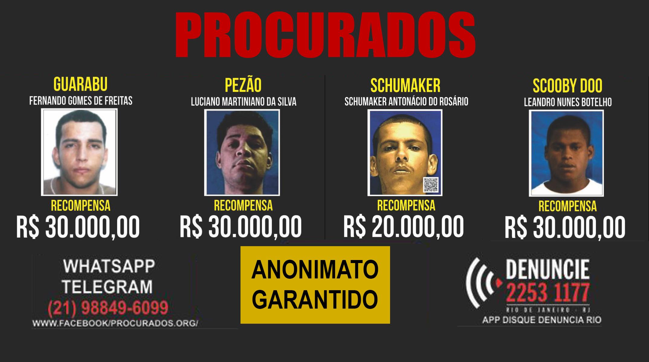 acdea5386 O Disque-Denúncia está pagando R  20 mil para quem der pistas sobre o  bandido